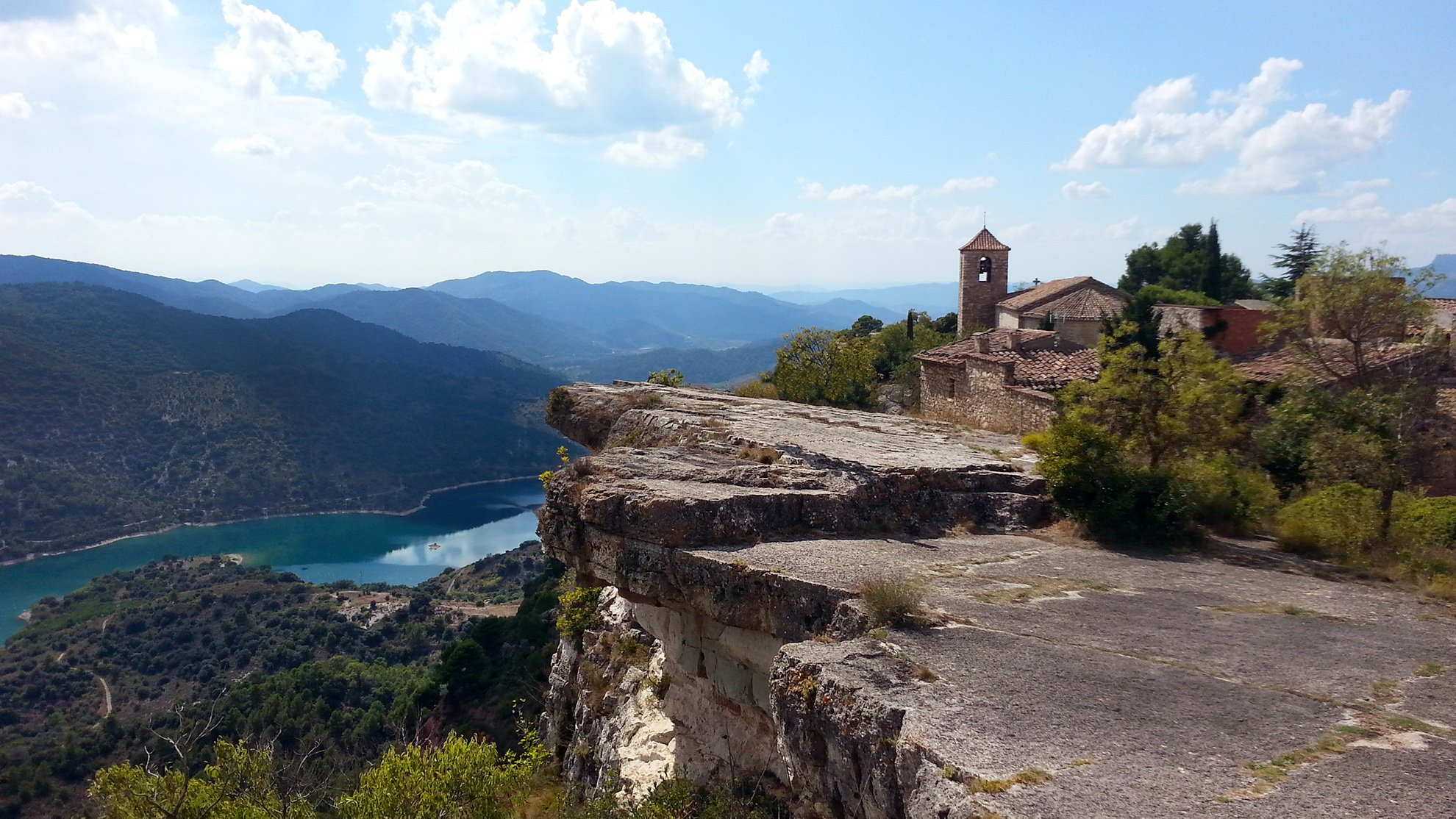 Siurana with a spectacular view