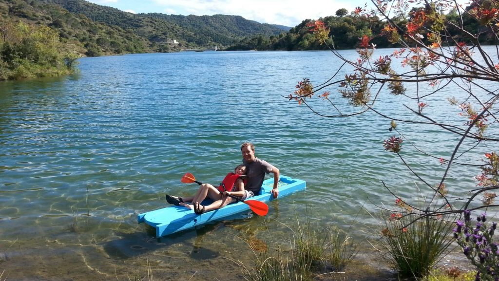 Cuby kayak on the lake
