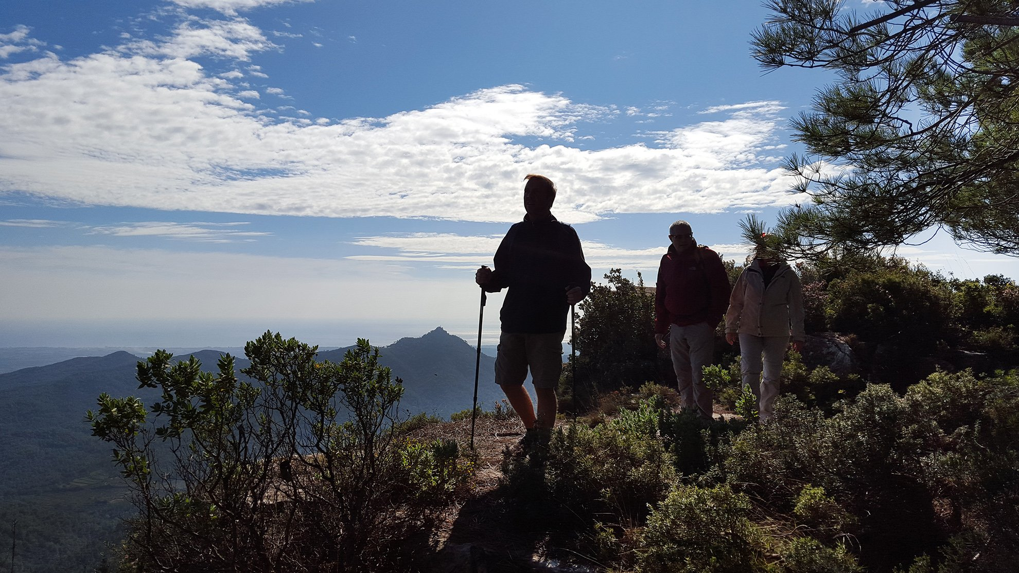Hiking in Sierra of Argentera, Baix Camp mountains