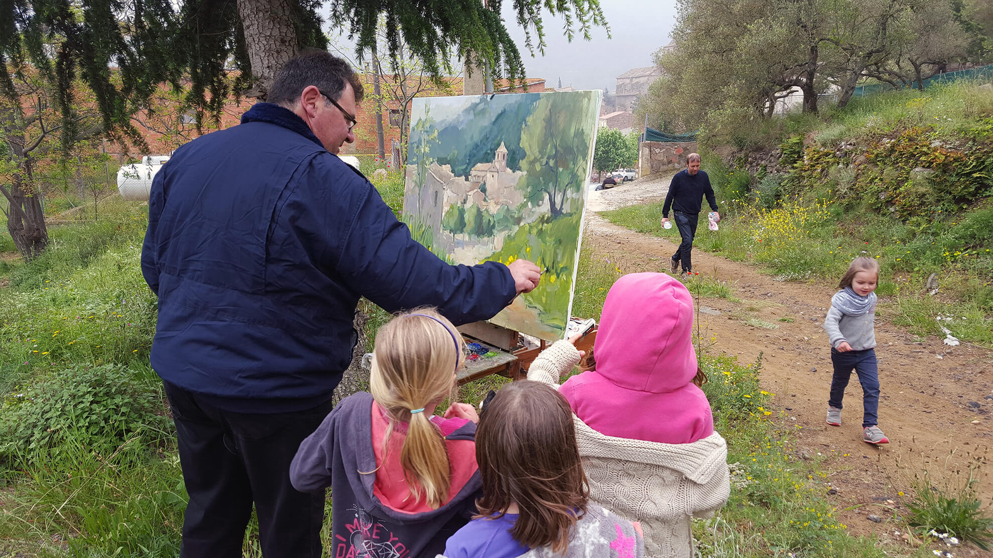 Outdoor quick painting contest at the Catalan village of L'Argentera