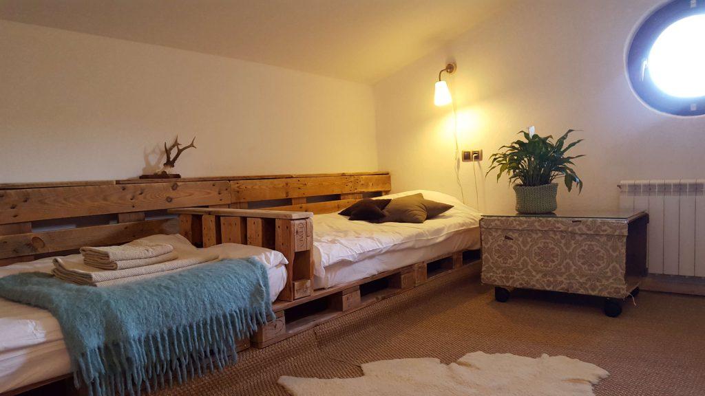 Teen attic in family duplex