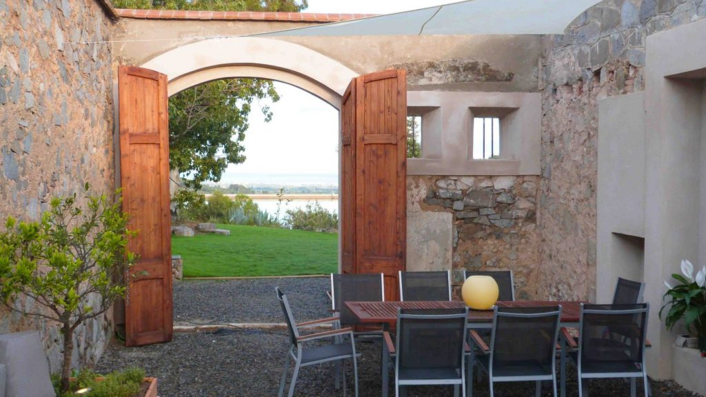 Patio / Courtyard with a view to the Sea